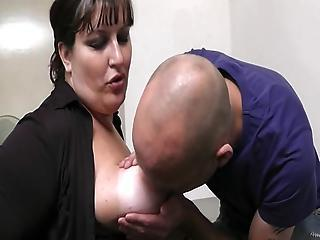 Bigtitted Female Has Pounded At Workplace