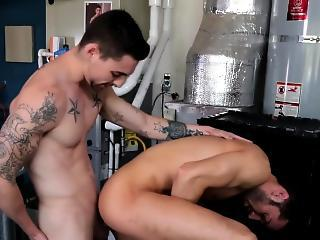 Chiseled Athlete Gets Cum
