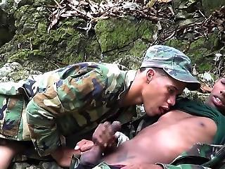 Uniformed Twinks Munching On Army Meat