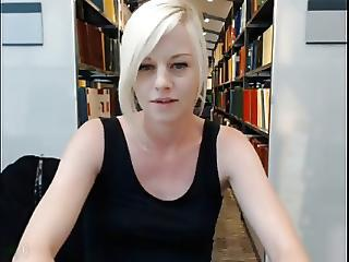 British Webcam Girl Library Fun Part 2 Caught