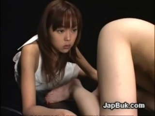 Asian cumplay after bukkake on Japanese free