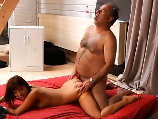 Old Instructor Sexing With His Young Acrobatic Student
