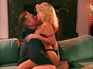 Vintage Busty Blonde April Adams Facial And Cum Kiss