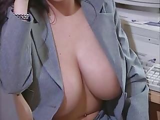 Sexy Broad in the beam Titted Woman