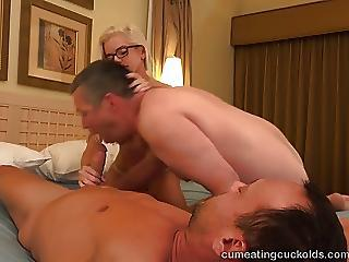 Hallen Von Together with Her Husband Take Loops Sucking Dick