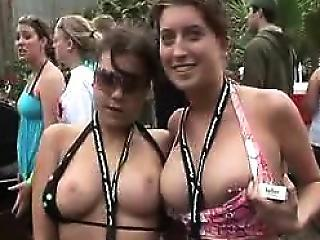 Bikini And Beer Party With Outrageous Sluts
