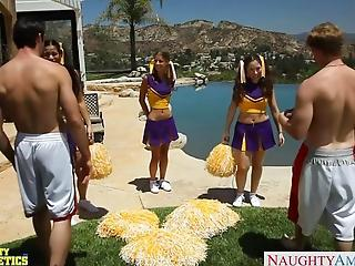 Cheerleader Presley Hart Fucks In Pool