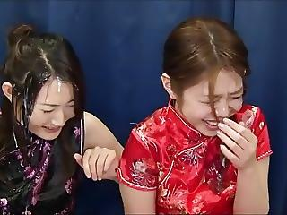 Two Amateur Japanese Ladies Try Bukkake Be advisable for The First Adulthood