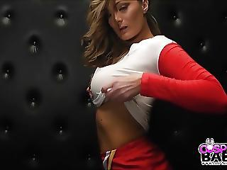 Cosplay Babes Busty Heroes Cheerleader Fucks Herself