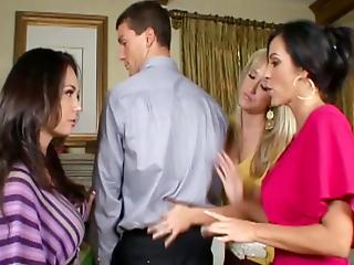 Cfnm Mate Holly West Inside An Anal Fourway