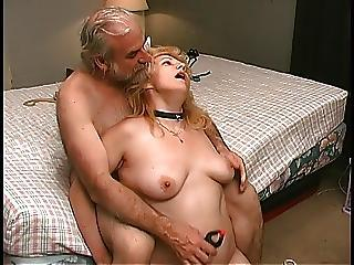 Mature Blonde Gets Pussy Clamped Close by Bedroom By Old Leading lady Partner