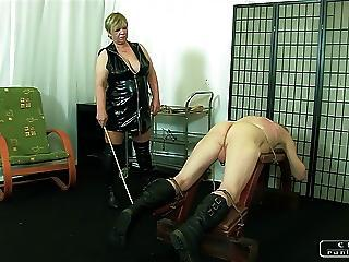 The Gorgon Granny Vi Face Slapping Caning Whipping