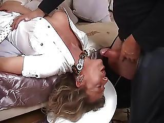 Smoking Hot Milf Roughly Thigh Tweeny Gets A Throatfuck