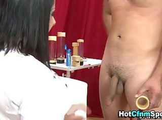 Amateur cfnm babe tugs a long dick _: Femdom humiliation