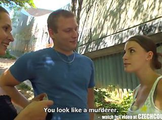 CZECH COUPLES Young Couple Takes Insistent for Public Foursome _: amateur czech pov