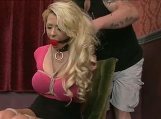 Big breast blond bound and fucked 1 of 2 _: bdsm