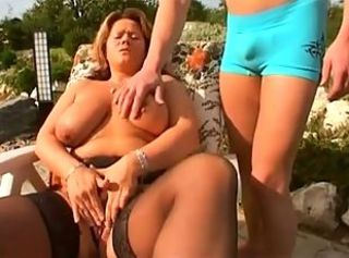 Big Tits Masturbating  Mom Natural Old and Young Outdoor