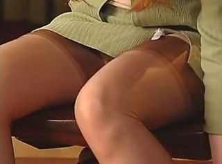Office girl 4 _: redheads secretaries stockings striptease
