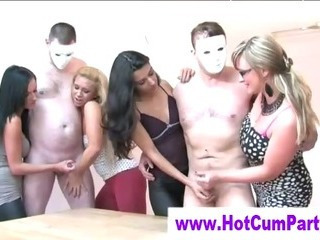 Cfnm Group British Girls Handjobs Cumshots