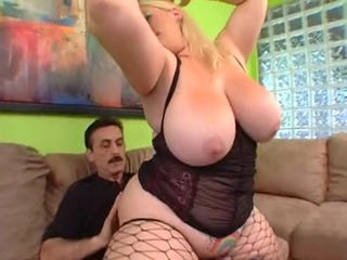 Big Tits Fishnet Lingerie  Pornstar Riding