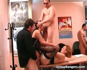 Amateur Group Sex Banging With Some