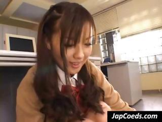 Morose Asian Schoolgirl Gives The Teacher...