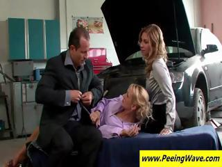 Two Office Secretaries Lay Down To Be Fu...