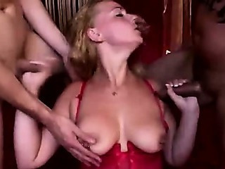 Dutch Hooker Sucks Two Amateurs Cocks