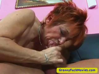 Granny Sucking Cock While Rubbing Pussy