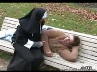 Nun gave a homeless a hard thoroughly