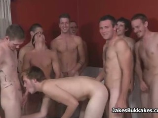 White Guys Bareback Bukkake Party