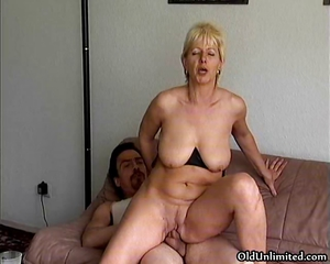 Dabbler Blonde Mature Mom Loves Riding Part4