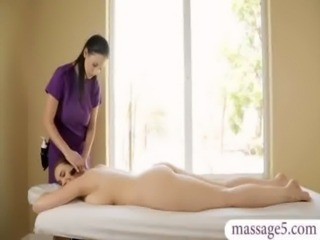 Volleyball lesson and sensual massage turns into lesbian sex free