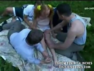 Forest gangbang Facial