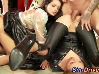 Fetish cfnm group hos gets fucked and vacillate turn into cum in hi def