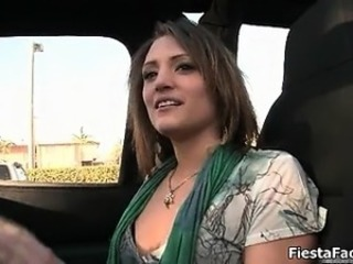Sexy brunette babe gets horny jerking part1