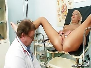 Klara big tits and pussy gyno speculum clinic exam
