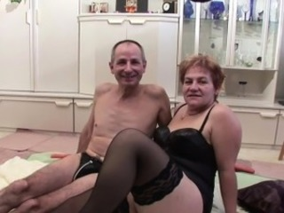 Grandma and grandpa in first time cast fuck for money