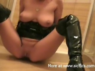 My slut wife is a filthy fist plus piss whore