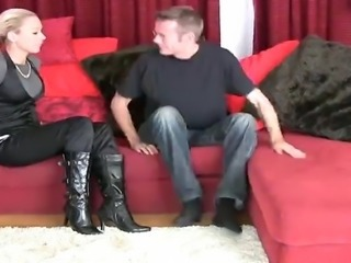 footjob boots and socks