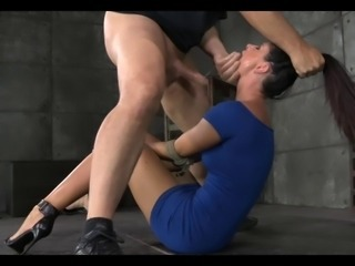 Superb Hot Tenebrous Milf Rough Treatment 7