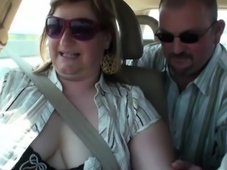 Amateur Car Chubby European German Wife