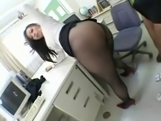 Asian Ass Chubby  Office Pantyhose Secretary