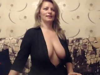 Mature Busty Milf teases out of reach of Web cam