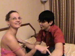 Teen getting her tight pussy fucked by a large abiding schlong