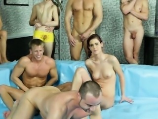 Bisexual dudes wrestle and suck cock