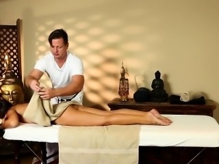 Brunette beauty massage