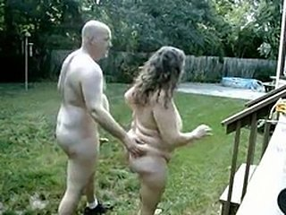 Amateur  Older Outdoor Wife