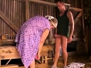 Fat And Horny Granny Banged In Transmitted to Ass