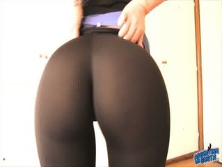 Big Booty Latina With Perfect Tight Pants Inside Ass!